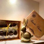 coniglio di cioccolato e cioccolatini della pasticceria trussardi di clusone