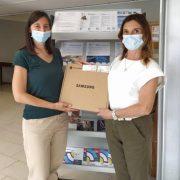 Consegna di due Chromebook ad ABF Curno da parte di Rotary Club Bergamo Ovest
