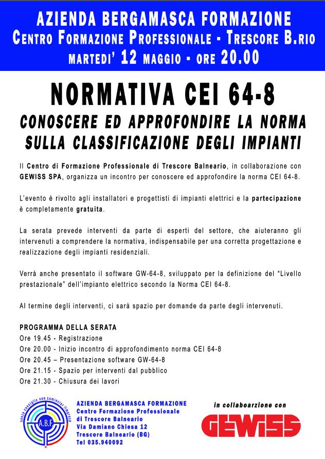 NORMATIVA DEI - 12 MAGGIO