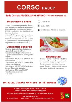 CORSO HACCP SGB
